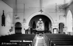 Wortley, Parish Church Interior c.1960