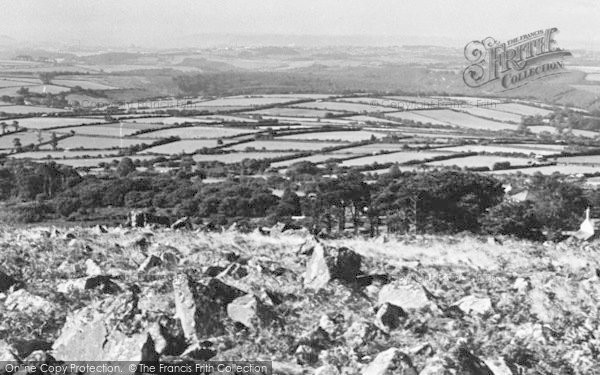 Photo of Wotter, View From The Moor c.1955