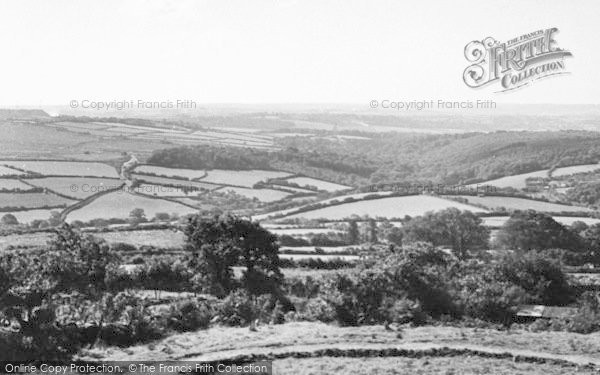 Photo of Wotter, View From The Post Office c.1955