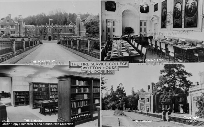 Photo of Wotton, Composite, The Fire Service College, Wotton House c.1955