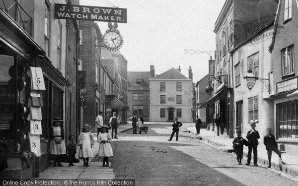 Photo of Wotton Under Edge, Children In Long Street 1897