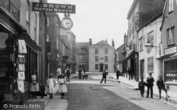 Wotton-Under-Edge, Children In Long Street 1897