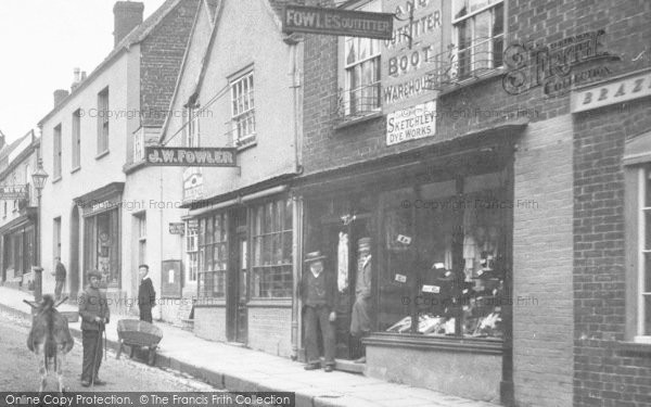 Photo of Wotton Under Edge, Fowles Outfitter, Long Street 1900