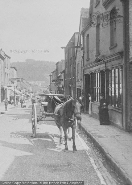 Photo of Wotton Under Edge, Horse And Trap, Long Street 1897