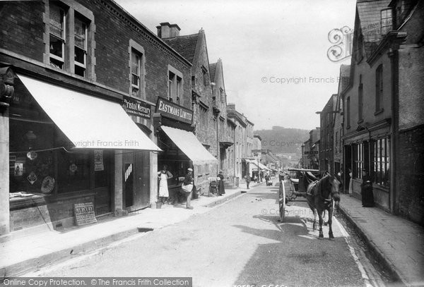 Photo of Wotton Under Edge, Long Street Looking Down 1897
