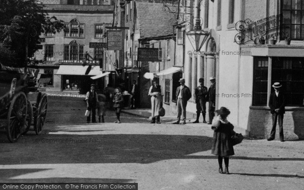 Photo of Wotton Under Edge, People In Market Street 1897