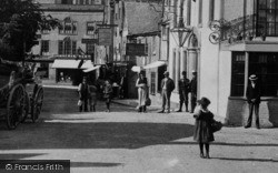 Wotton-Under-Edge, People In Market Street 1897