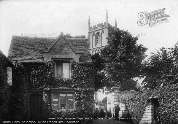 Photo of Wotton Under Edge, Potters Pond And Church Tower 1903