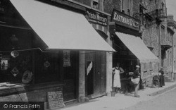 Wotton-Under-Edge, Shops In Long Street 1897