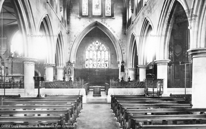 Photo of Wotton Under Edge, St Mary's Church, Interior 1897