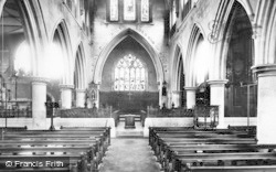 Wotton-Under-Edge, St Mary's Church, Interior 1897