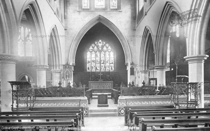 Photo of Wotton Under Edge, St Mary's Church, Interior 1900