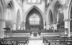 Wotton-Under-Edge, St Mary's Church, Interior 1900
