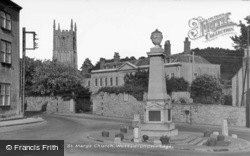 War Memorial And St Mary's Church c.1950, Wotton-Under-Edge