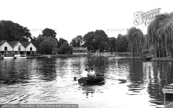 Photo of Wraysbury, The Thames c.1955