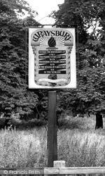Wraysbury, The Village Sign c.1955