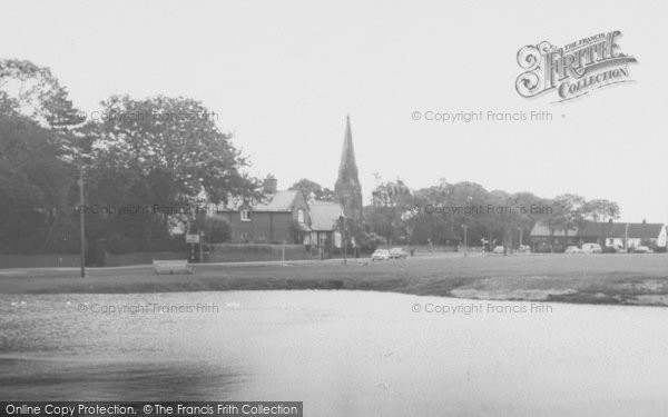 Photo of Wrea Green, Church From The Duck Pond  c.1965