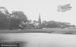 Wrea Green, Church From The Duck Pond  c.1965