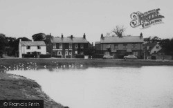 Wrea Green, Houses By The Duck Pond c.1965