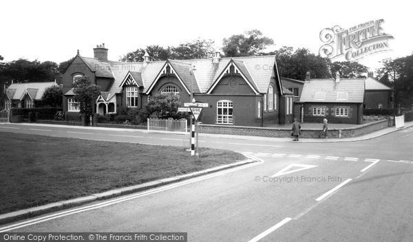Photo of Wrea Green, The School c.1965
