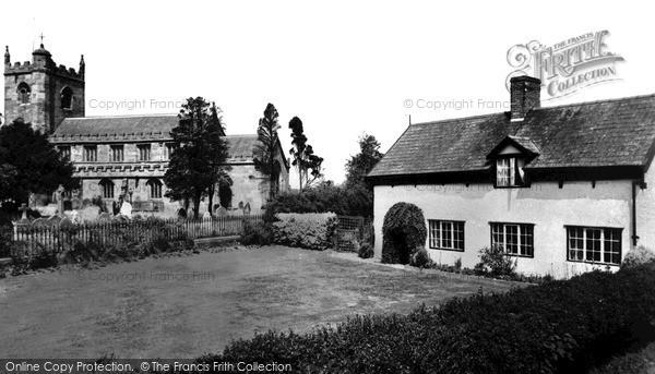 Photo of Wrenbury, Oak House And Church c.1955