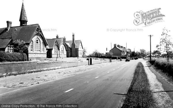 Photo of Wrenbury, The School And Nantwich Road c.1955