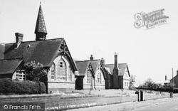 Wrenbury, The School c.1955