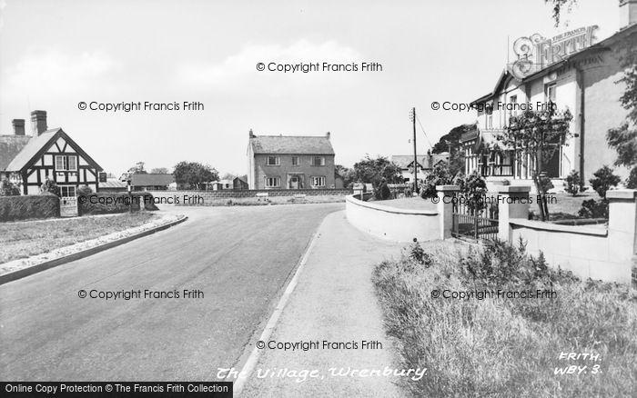Photo of Wrenbury, The Village c.1955