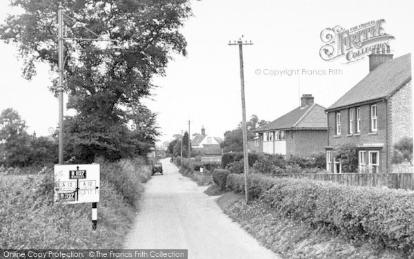 Photo of Wrentham, The Village c.1955
