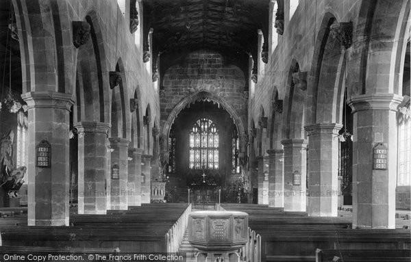 Photo of Wrexham, Church Interior 1903