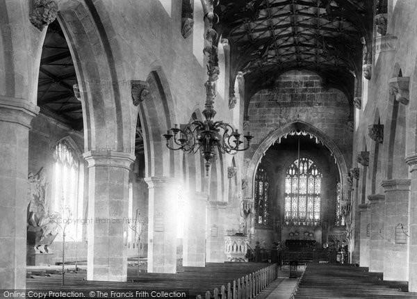 Photo of Wrexham, Church Of St Giles, Interior 1895