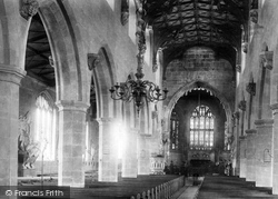 Wrexham, Church Of St Giles, Interior 1895