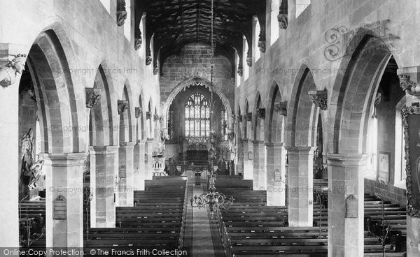 Photo of Wrexham, Church Of St Giles, Nave From The Organ 1895