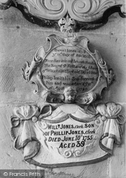 Wrexham, Church Of St Giles, Old Daniel Jones Memorial 1895