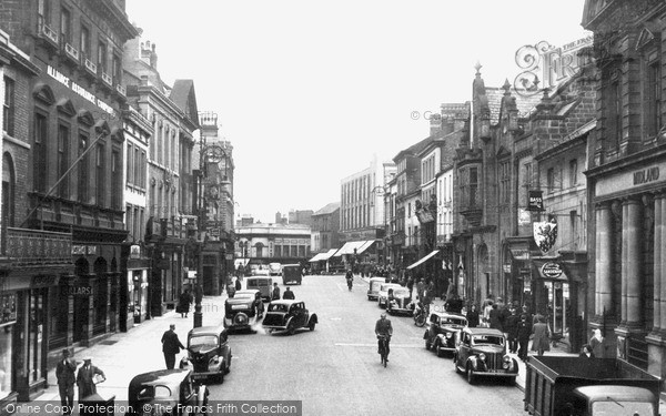 Photo of Wrexham, High Street c.1955