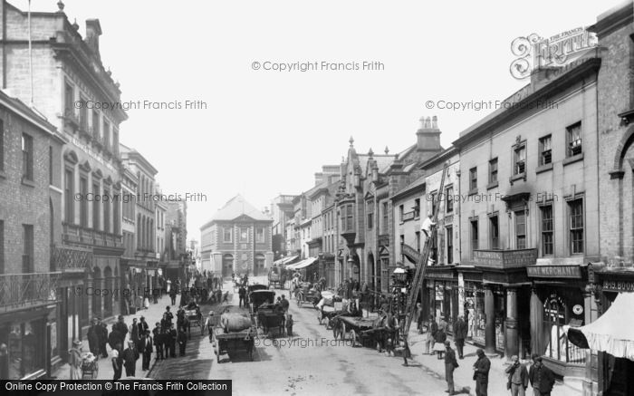 Photo of Wrexham, High Street From Wynnstay Arms 1895