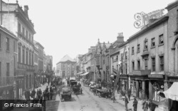 Wrexham, High Street From Wynnstay Arms 1895