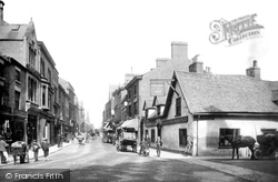Wrexham, Hope Street And The Talbot Inn 1895