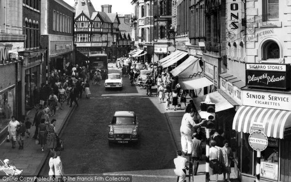 Photo of Wrexham, Hope Street c.1965