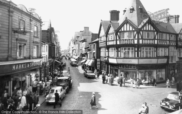 Photo of Wrexham, Regent Street c.1965