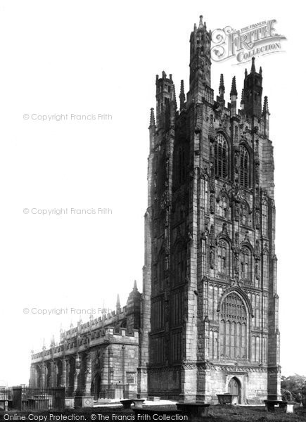Photo of Wrexham, St Giles' Church, Peel's Monument 1895