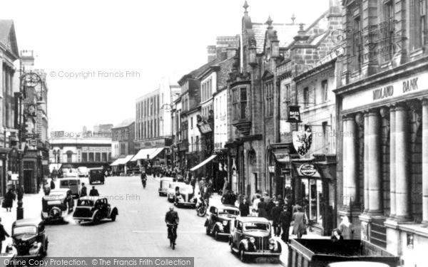 Photo of Wrexham, The High Street c.1955