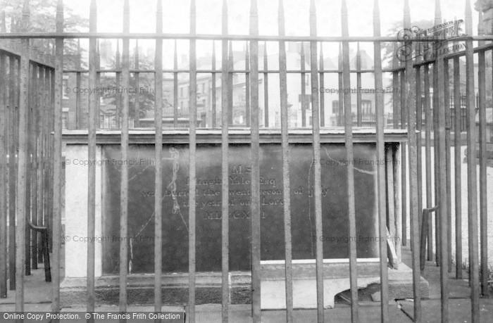Photo of Wrexham, The Tomb Of Elihu Yale 1895