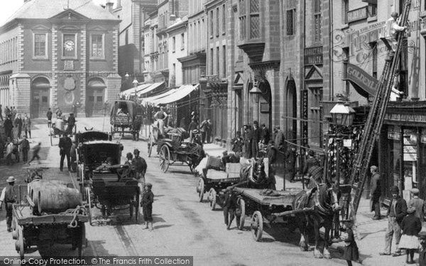 Photo of Wrexham, Traffic, High Street 1895