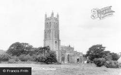 Wrington, All Saints Church And Meadows c.1965
