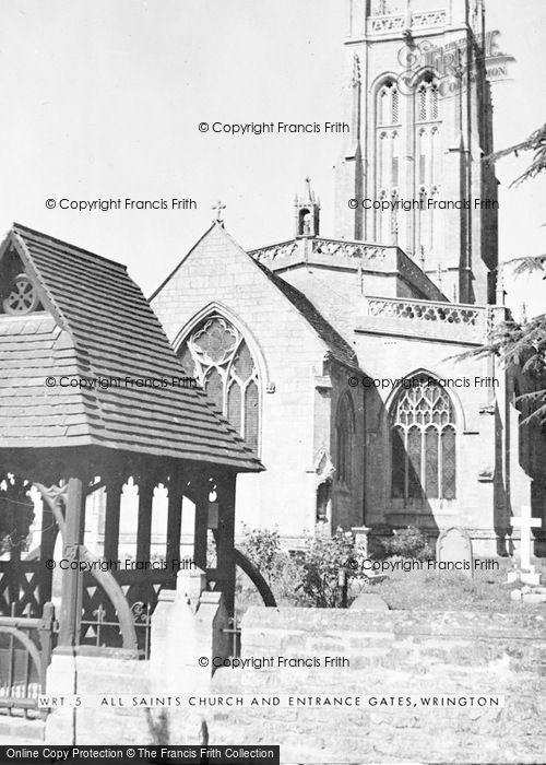 Photo of Wrington, All Saints Church c.1960