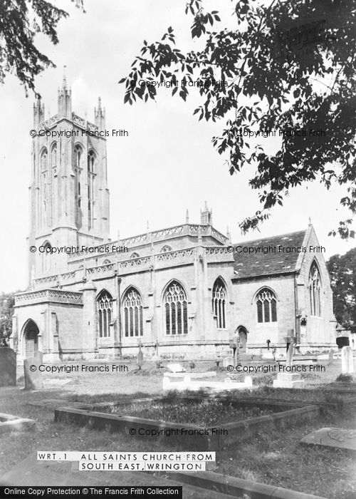 Photo of Wrington, All Saints Church From South East c.1955