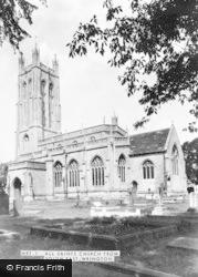 All Saints Church From South East c.1955, Wrington