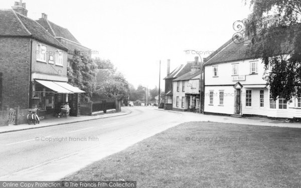 Photo of Writtle, Poat Office And Leete Hotel c.1955