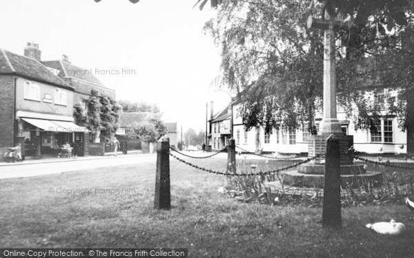 Photo of Writtle, Post Office And Memorial Cross c.1960